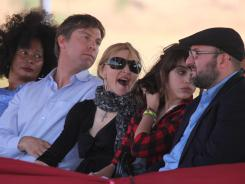 Madonna attends the ground breaking ceremony for the Raising Malawi Academy for Girls in Lilongwe, Malawi.