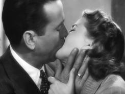A kiss is still a kiss: Humphrey Bogart and Ingrid Bergman in 'Casablanca.'