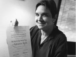 Adrienne Rich, whose socially conscious verse influenced a generation of feminist, gay rights and anti-war activists, has died. She was 82.