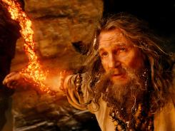 Sound and fury: Liam Neeson stars as Zeus in the action-heavy 'Wrath of the Titans.'