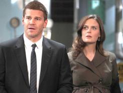 Emily Deschanel is a very pregnant Brennan on Bones.