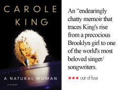 'A Natural Woman' by Carole King is a weekend pick for book lovers.