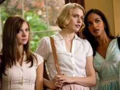 Carrie MacLemore, left, Greta Gerwig and Megalyn Echikunwoke star as the damsels, but the distress belongs to the audience in 'Damsels in Distress.'
