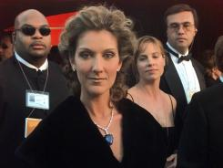 Celine Dion wore a 'Titanic' necklace at the 1998 Academy Awards in Los Angeles.