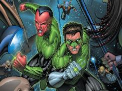 Sinestro and Hal Jordan are rivals and, so far, co-stars of Geoff Johns' relaunched Green Lantern series.