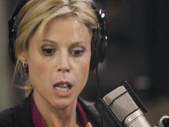 Claire (Julie Bowen) faces multiple problems on Election Day, including microphone malfunction, on 'Modern Family.'