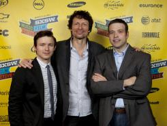Actor Marshall Allman (who plays Donald Miller in film), left, producer Steve Taylor and author Donald Miller at the SXSW premiere of 'Blue Like Jazz.'