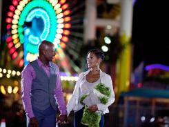 The player and the cautious one: Zeke (Romany Malco) is kept waiting by Mya (Meagan Good) in the adaptation of Steve Harvey's best-selling book.