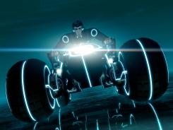 """The young program Beck comes his people's aid in a tricked-out """"Light Crawler,"""" a new vehicle debuting in Disney XD's TRON: Uprising animated series."""