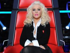 Christina Aguilera's team was showcased on 'The Voice' on Monday, along with Blake Shelton's singers.