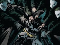 "The Dark Knight and all of Gotham are under siege by the Court of Owls in the upcoming ""Night of the Owls"" crossover story line."