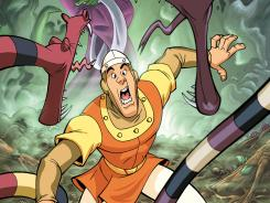 Video-game star Dirk the Daring battles assorted baddies in stories on the new 'Dragon's Lair' comic app.