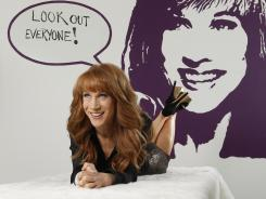 Kathy Griffin has a new TV chat show Kathy, coming on Bravo. She poses for a portrait in her office at the Sunset Bronson Studios in Los Angeles.