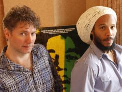 Director Kevin Macdonald, left, and Ziggy Marley, at the SXSW Film Festival in Austin, Texas. Macdonald's 'Marley' is the first film to have the approval of the Marley family.