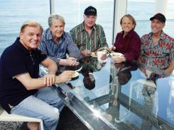 The Beach Boys' (pictured: Bruce Johnston, left, Brian Wilson, Mike Love, Al Jardine and David Marks) upcoming album stays true to the group's distinctive sound.