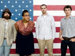 Zac Cockrell, left, ny Howard, Steve Johnson and Heath Fogg of the Alabama Shakes.