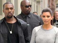 Kute kouple: Kanye West and Kim Kardashian took their romance out on the town several nights this week.