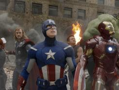 Avengers assembled: Marvel's 'The Avengers,' featuring Black Widow (Scarlett Johansson, left), Thor (Chris Hemsworth), Captain America (Chris Evans), Hawkeye (Jeremy Renner), Iron Man (Robert Downey Jr.), and Hulk (Mark Ruffalo) kicks off what looks to be a promising summer of superhero films.