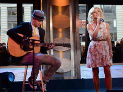 'Dancing With the Stars' partners Mark Ballas and Katherine Jenkins perform on 'Good Morning America.'