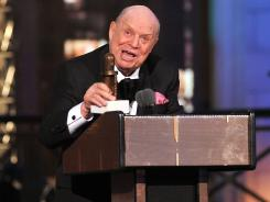 Comedian Don Rickles accepts an award at The Comedy Awards in New York.