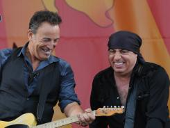 Bruce Springsteen and Steve Van Zandt rock the Jazz Fest crowd on Sunday.