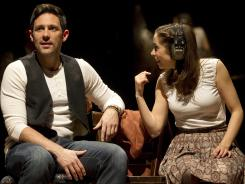Steve Kazee and Cristin Milioti are nominated for their leading roles in 'Once.' The musical is nominated for 11 Tony Awards.