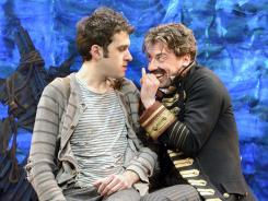 Prequel to 'Pan': Adam Chanler-Berat, left, and Christian Borle star in 'Peter and the Starcatcher,' which is up for nine Tony Awards.