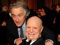 Don Rickles, here with Robert De Niro, accepted the Johnny Carson honor at the second annual 'Comedy Awards.' The awards show airs Sunday at 9 ET/PT on Comedy Central.