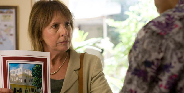 "Penelope Wilton plays the killjoy Jean in 'The Best Exotic Marigold Hotel.' ""She is a disappointed woman,"" Wilton says. ""I find Jean finds herself difficult, not just other people. She is a mass of insecurities."""