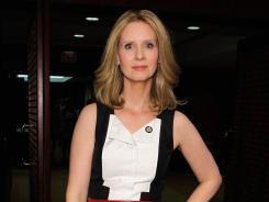 Good competition: Leading actress nominee Cynthia Nixon ('Wit') attends the Tony nominees reception Wednesday and says this year's field of contenders is quite strong.