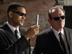 Will Smith, left, and Tommy Lee Jones in 'Men In Black III,' which arrives in theaters May 25.