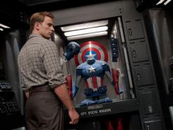 Chris Evans plays the patriot part of Steve Rogers, aka Captain America, in 'Marvel's The Avengers.'