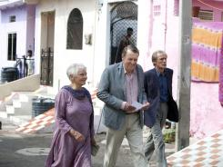 Begin again: Judi Dench, left, Tom Wilkinson and Bill Nighy plot a life of retirement in India in 'The Best Exotic Marigold Hotel.'