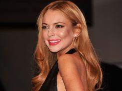 Lindsay Lohan is shown at the annual White House Correspondents' Association Dinner on April 28.