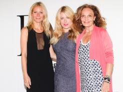 The lineup:  Gwyneth Paltrow, Amanda de Cadenet and Diane von Furstenberg at the designer's studio.
