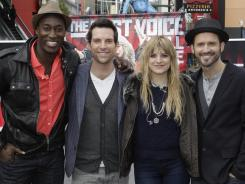 The last four contenders sang for America's votes in the final performance show of 'The Voice.' A winner is announced Tuesday during the show's season finale, 9 ET/PT.