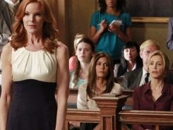 Guilty of Alejandro's murder? That's the big question in court for Bree (Marcia Cross, left) as Susan (Teri Hatcher) and Lynette (Felicity Huffman) watch.