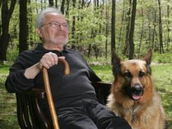 Maurice Sendak at home in Ridgefield, Conn., in 2005 with his dog, Herman.