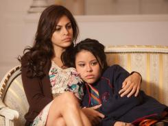 Motherly role: Eva Mendes plays Cierra Ramirez's complicated single mom in 'Girl in Progress.'