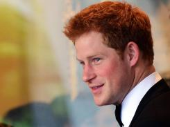 Back in the States: Prince Harry picked up an award Monday night in which U.S. city?