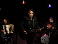 DeVotchKa, which is Russian for 'girl,' is also the name of the Denver-based gypsy punk band. From left, Tom Hagerman, Nick Urata and Shawn King. The band stopped by after a performance at Washington D.C.'s 9:30 Club.