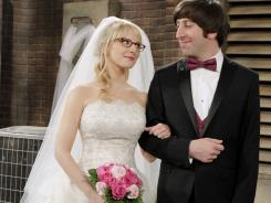 Howard (Simon Helberg) wants to marry Bernadette (Melissa Rauch) before he blasts into outer space in 'The Big Bang Theory.'