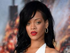 Rihanna arrives at the premiere of Battleship at Nokia Theatre L.A. Live on Thursday.