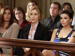 Teri Hatcher, left, Felicity Huffman, and Eva Longoria end their eight-season run on ABC's 'Desperate Housewives,' Sunday at 9 p.m. ET/PT.