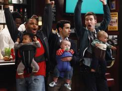By Vivian Zink, NBCThree men and their babies: Anthony Anderson, left, Jesse Bradford and Zach Cregger are Guys With Kids.