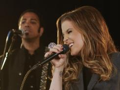 Setting the promotional stage, Lisa Marie Presley rehearses with her band in Hollywood.