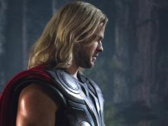 'The Avengers,' with Chris Hemsworth as Thor, was No. 1 for a second week.