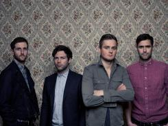 Richard Hughes, left, Jesse Quin, Tom Chaplin and Tim Rice-Oxley of Keane, whose fifth album has already hit No. 1 in the U.K.