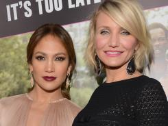 Jennifer Lopez, left, and Cameron Diaz turned up the glamour at the premiere.