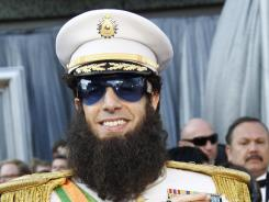 Sacha Baron Cohen arrives at this year's 84th annual Academy Awards in full uniform.